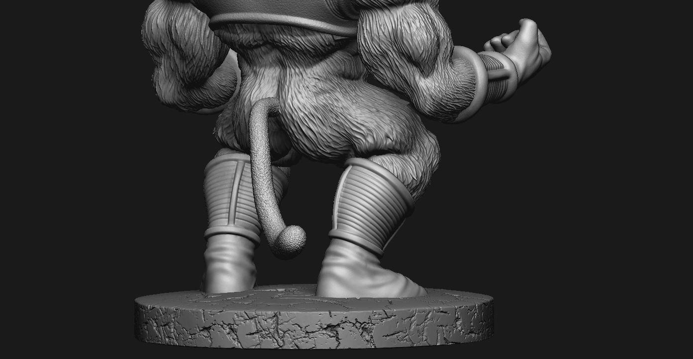 10.JPG Download STL file Oozaru Baby - Dragon ball - 3D print model  • Object to 3D print, Bstar3Dart