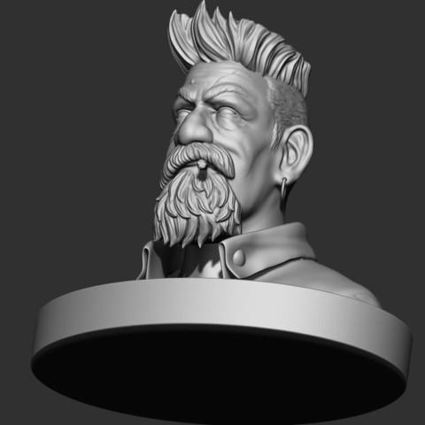 8.JPG Download STL file Zombie Hunter Bust  • Template to 3D print, Bstar3Dart
