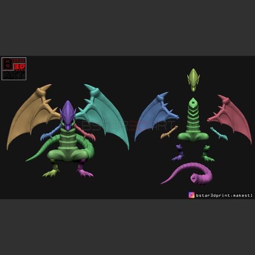 12.jpg Télécharger fichier STL yeux bleus dragon blanc - Yu Gi Oh • Modèle à imprimer en 3D, Bstar3Dart