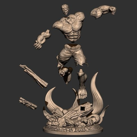 17.JPG Download STL file Hulk Angry - Super Hero - Marvel 3D print model • 3D print model, Bstar3Dart