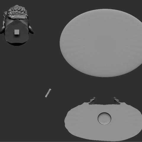 13.JPG Download STL file Zombie Hunter Bust  • Template to 3D print, Bstar3Dart