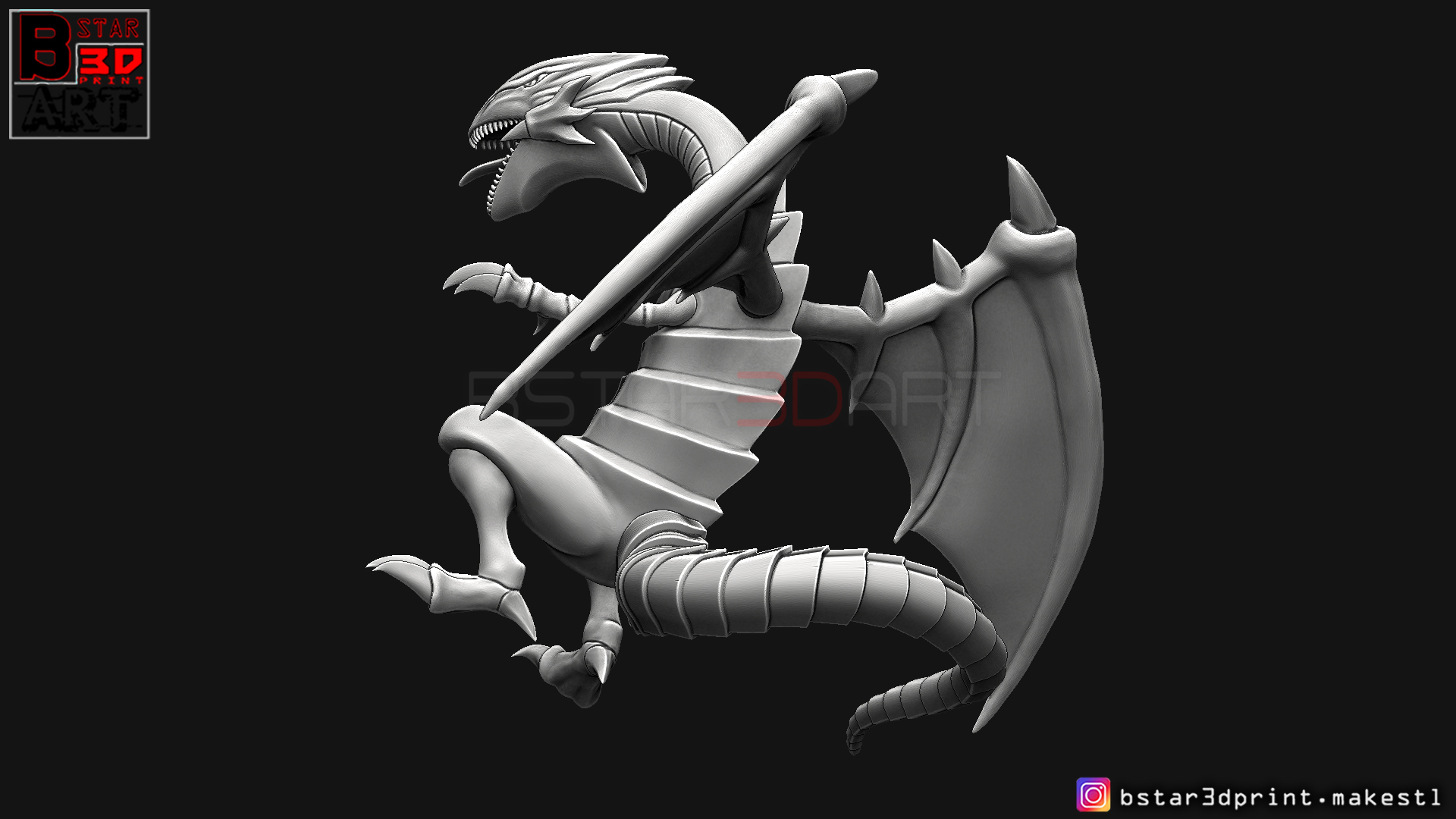10.jpg Télécharger fichier STL yeux bleus dragon blanc - Yu Gi Oh • Modèle à imprimer en 3D, Bstar3Dart