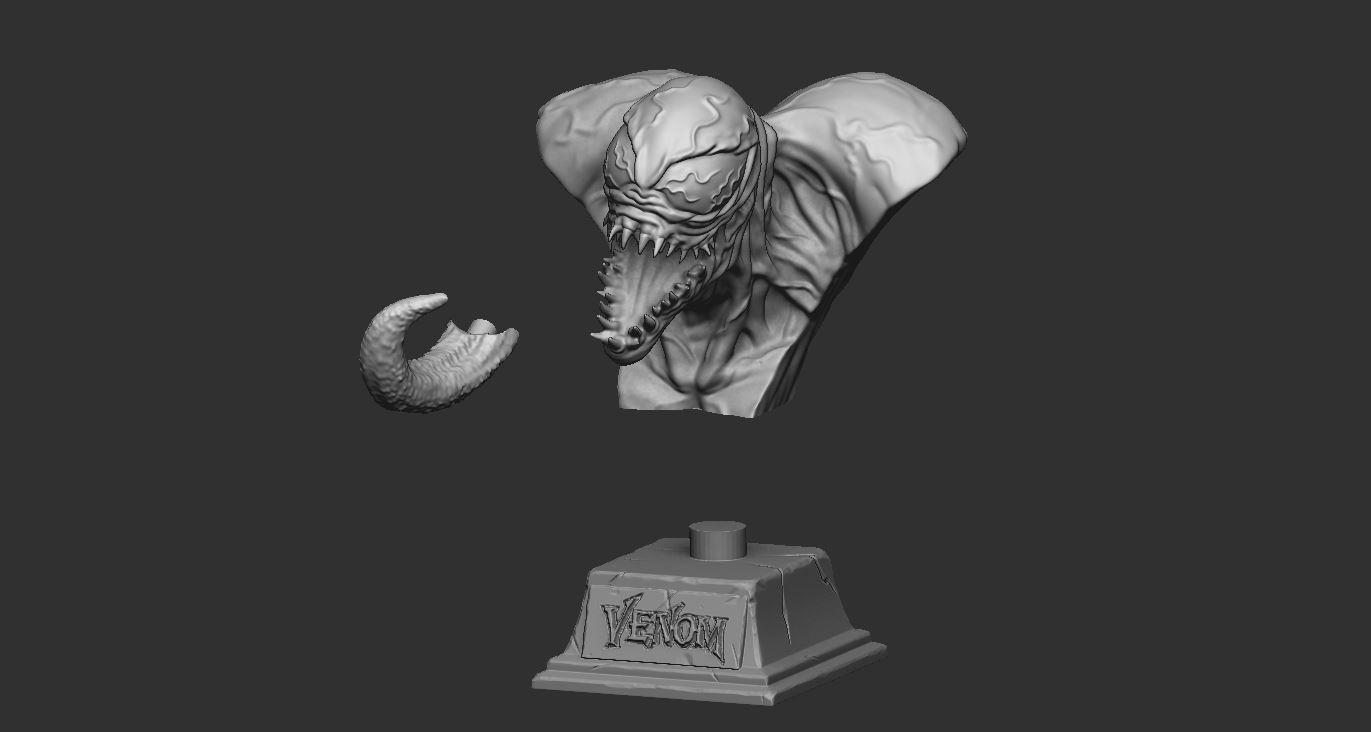 10.JPG Download STL file Venom Bust - Marvel 3D print model • 3D printable design, Bstar3Dart