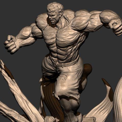 13.JPG Download STL file Hulk Angry - Super Hero - Marvel 3D print model • 3D print model, Bstar3Dart