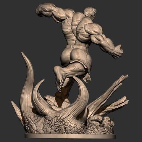 6.JPG Download STL file Hulk Angry - Super Hero - Marvel 3D print model • 3D print model, Bstar3Dart