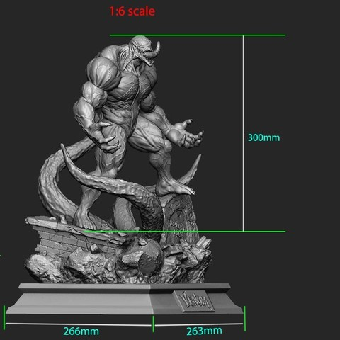 32.jpg Download STL file Super Venom - Marvel 3D print model • 3D printer model, Bstar3Dart