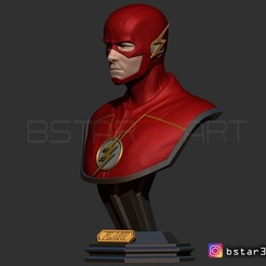 Download STL The Flash Bust, Bstar3Dart