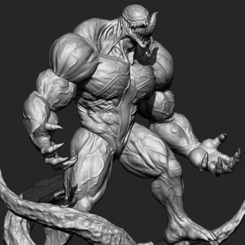 17.JPG Download STL file Super Venom - Marvel 3D print model • 3D printer model, Bstar3Dart
