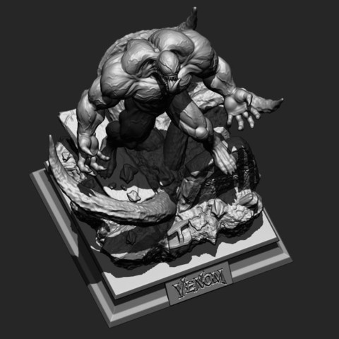 10.JPG Download STL file Super Venom - Marvel 3D print model • 3D printer model, Bstar3Dart
