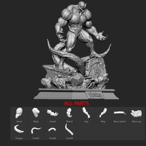 29.jpg Download STL file Super Venom - Marvel 3D print model • 3D printer model, Bstar3Dart
