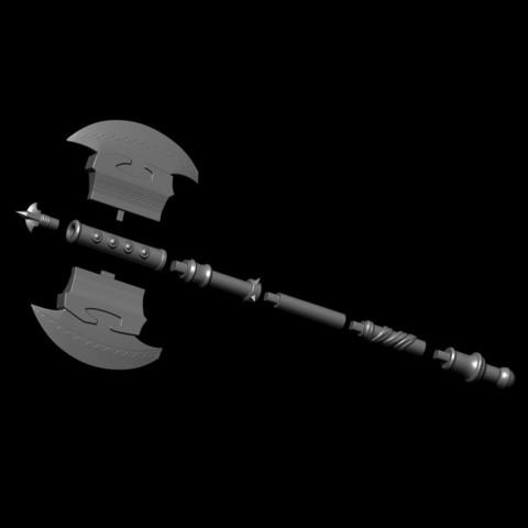 24.JPG Download OBJ file AXE-Warhammer • Object to 3D print, Bstar3Dart