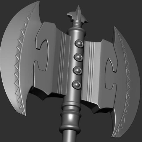 11.JPG Download OBJ file AXE-Warhammer • Object to 3D print, Bstar3Dart