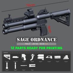 STL Sage ordnance Deuce GUN, Bstar3Dprint