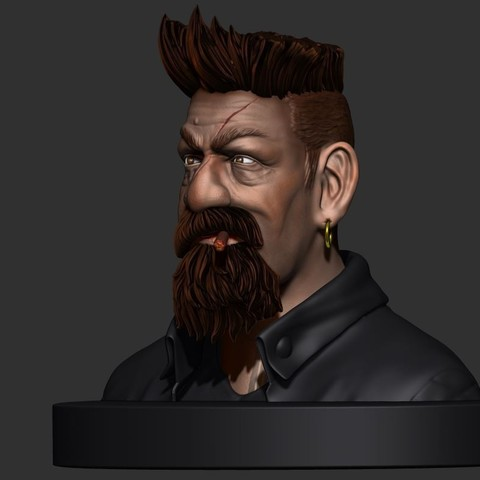 16.JPG Download STL file Zombie Hunter Bust  • Template to 3D print, Bstar3Dart