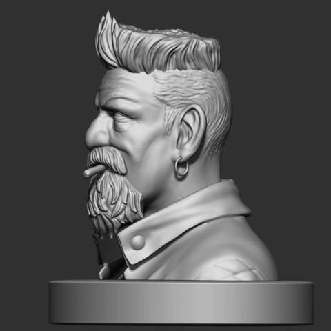 3.JPG Download STL file Zombie Hunter Bust  • Template to 3D print, Bstar3Dart