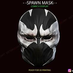 01.jpg Download STL file Spawn Comic Mask • 3D printing template, Bstar3Dart