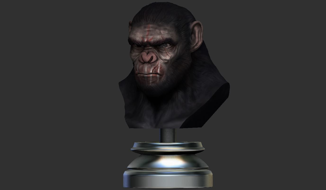 13.JPG Download OBJ file Koba Monkey • 3D print model, Bstar3Dart