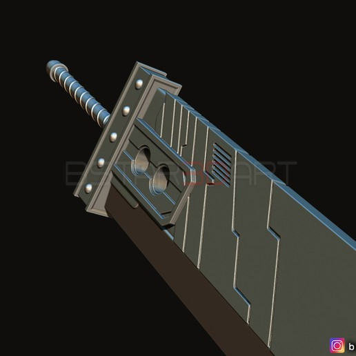 06.jpg Download STL file Buster Sword Cloud - Final Fantasy VII Remake • 3D printable template, Bstar3Dart