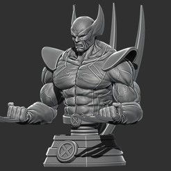 3D printer models Wolverine Bust - Marvel 3D print model 3D print model, Bstar3Dprint