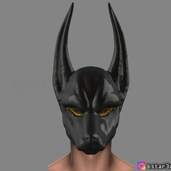 Download 3D printer templates Anubis - Anpu - ancient Egyptian god Mask, Bstar3Dart