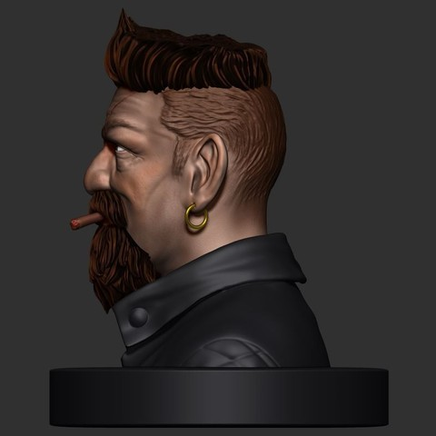 17.JPG Download STL file Zombie Hunter Bust  • Template to 3D print, Bstar3Dart