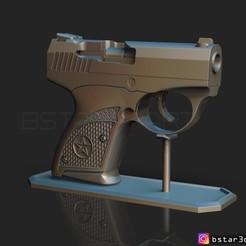 Imprimir en 3D Bond Bullpup 9 Pistola, Bstar3Dart