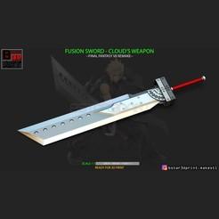 001.jpg Download STL file Fusion Sword Cloud - Final Fantasy VII remake • Model to 3D print, Bstar3Dart