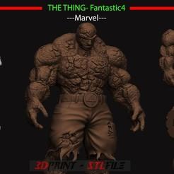 stl file The Thing - Fantastic Four - Marvel , blackstar90