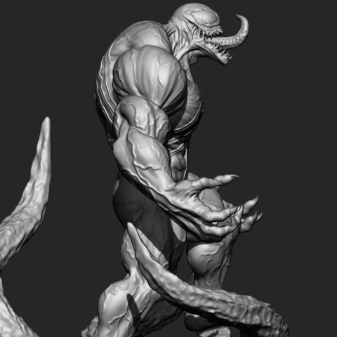 16.JPG Download STL file Super Venom - Marvel 3D print model • 3D printer model, Bstar3Dart