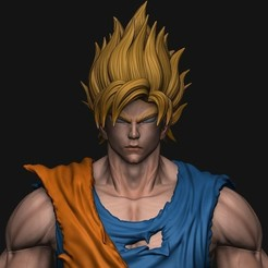 archivos stl GOKU super saiyan v2 - Dragonball Super, blackstar90