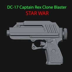 STL files DC-17 Captain Rex Clone Blaster for cosplay - from Star war , Bstar3Dprint