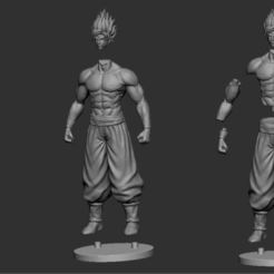 Download 3D printing files GOKU super saiyan - Dragonball Super, Bstar3Dart