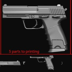 3d printer model Gun , blackstar90
