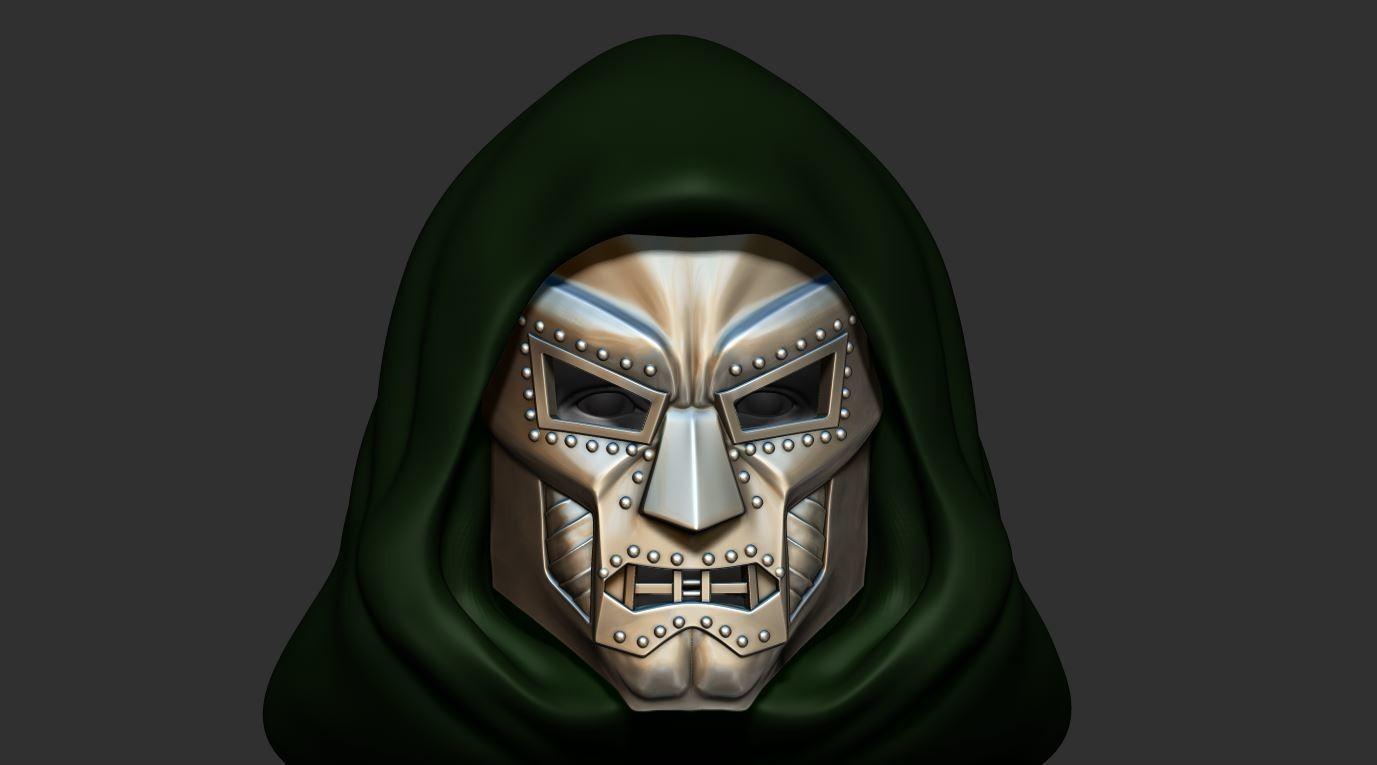 11.JPG Download STL file Doom mask - Helmet Marvel 3D print model • 3D printable model, Bstar3Dart