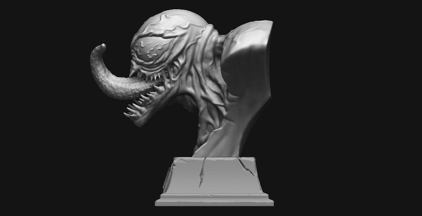 2.JPG Download STL file Venom Bust - Marvel 3D print model • 3D printable design, Bstar3Dart