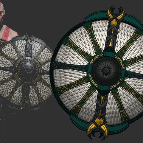 Download 3D printer files Shield of Kratos - Guardian Shield - God of War 2018, Bstar3Dart