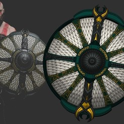 3D printer files Shield of Kratos - Guardian Shield - God of War 2018, Bstar3Dprint