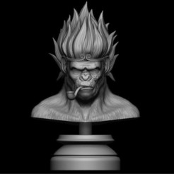 STL file King Monkey 3D print model, Bstar3Dprint