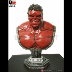 Download 3D printer files Hulk Angry Bust - Infinity War - from Marvel, Bstar3Dart