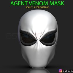 Download 3D printing templates The Agent Venom Mask - Marvel Helmet , Bstar3Dart