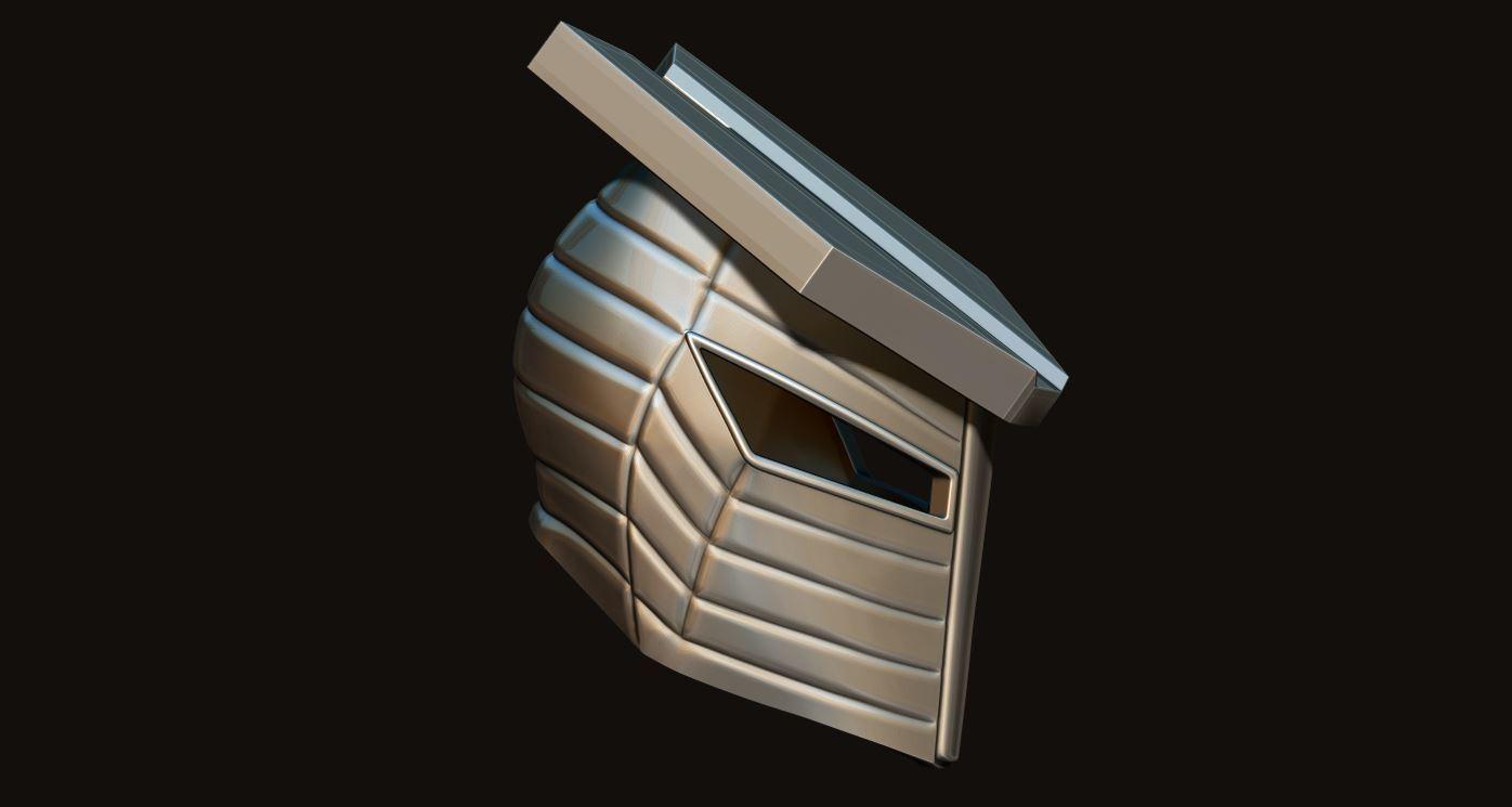 18.JPG Download STL file Destroyer Helmet from Marvel 3D print model • 3D printer object, Bstar3Dart