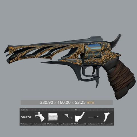 STL files Malfeasance Gun from Destiny 2, Bstar3Dprint