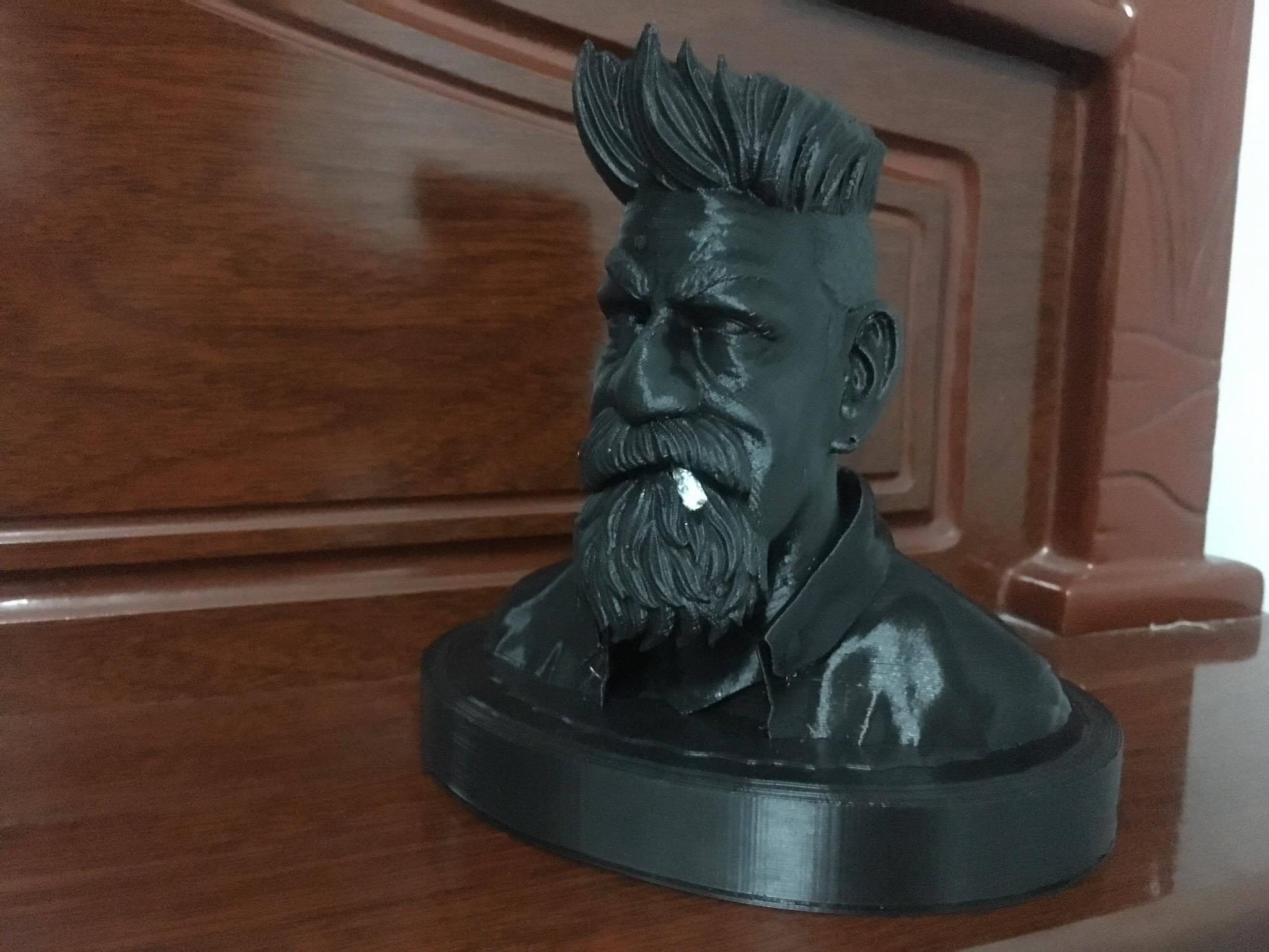 38503250_10217156050952453_7955874634585341952_o.jpg Download STL file Zombie Hunter Bust  • Template to 3D print, Bstar3Dart