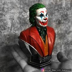 Impresiones 3D Joker Bust - de la película Joker 2019, Bstar3Dart