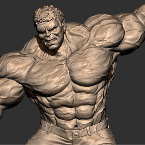 14.JPG Download STL file Hulk Angry - Super Hero - Marvel 3D print model • 3D print model, Bstar3Dart