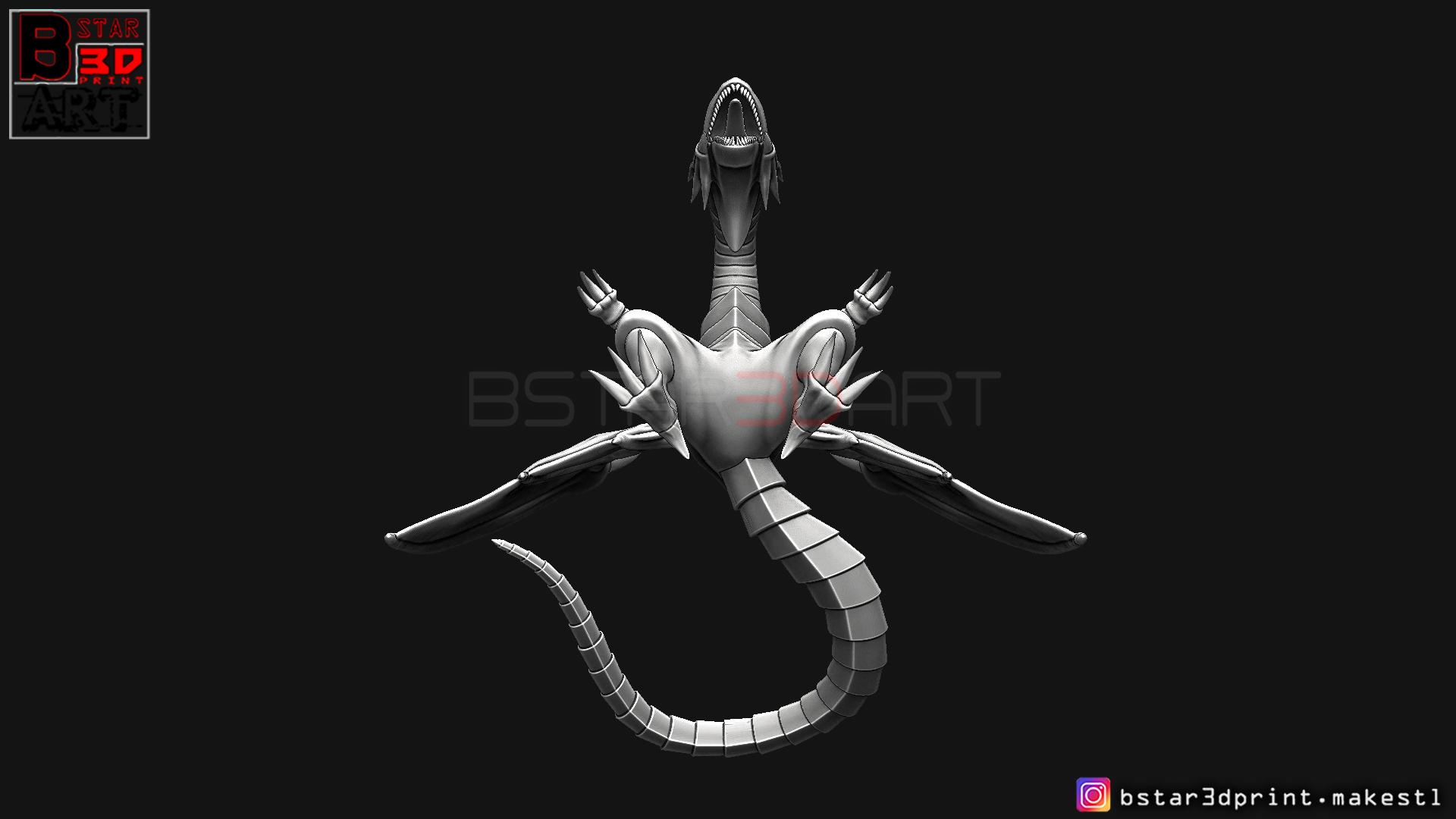 07.jpg Télécharger fichier STL yeux bleus dragon blanc - Yu Gi Oh • Modèle à imprimer en 3D, Bstar3Dart
