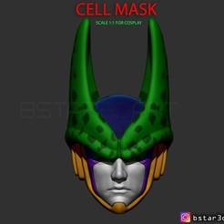 Download 3D printing files CELL Mask -Dragon Ball Z Cosplay or custom , Bstar3Dart