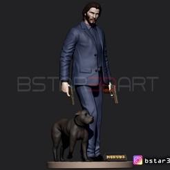 Download 3D printer files Keanu Reeves - John Wick 3d print, Bstar3Dart