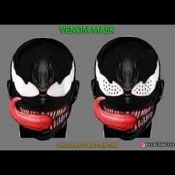 01q.jpg Download STL file Venom Half Mask -Marvel Cosplay - Halloween Mask  • 3D printing design, Bstar3Dart
