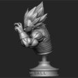 Download STL files Vegeta Bust - dragonball Z, Bstar3Dart